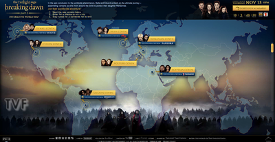 La Twilight World Map : Les différents vampires