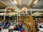 sculpture géante Gollum dans l'aéroport Wellington