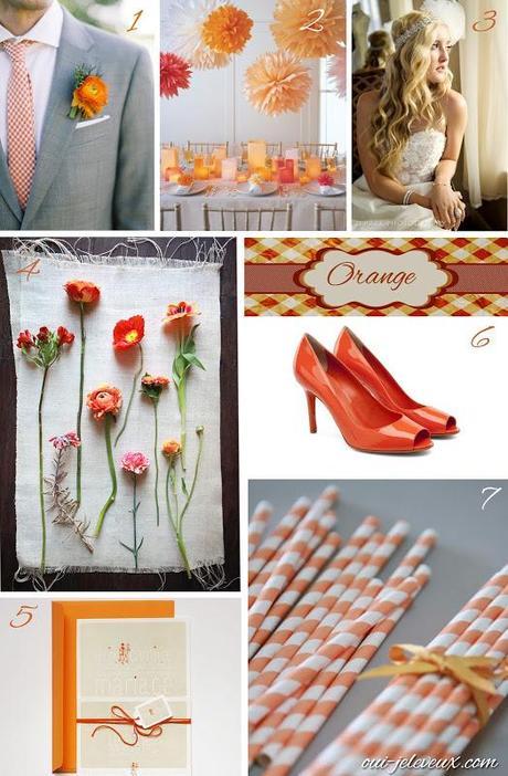 Des idées pour un thème de mariage Orange? Oui, je le veux!