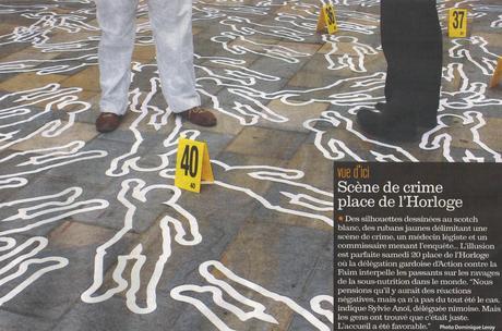 ACF Nîmes en pleine pages dans le journal la gazette pour la Journée Mondial de l'Alimentation