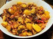Pommes terre lard cèpes