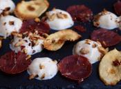Espuma Mont d'Or morilles, breasola chips panais