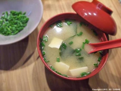 Soupe Miso au Tofu et au Wakame 豆腐とわかめの味噌汁