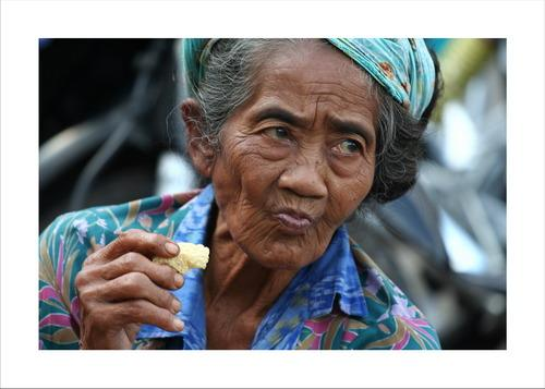 Old women in Bali, Indonesia. Photographer: Joel Dousset More...