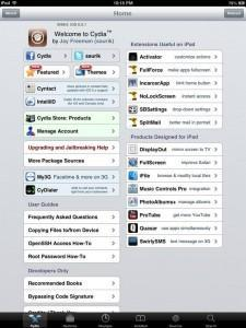 Jailbreak de l'iPad 4 et de l'iPad mini