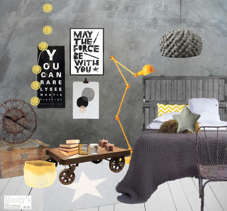 en mood la t te dans les toiles une chambre. Black Bedroom Furniture Sets. Home Design Ideas