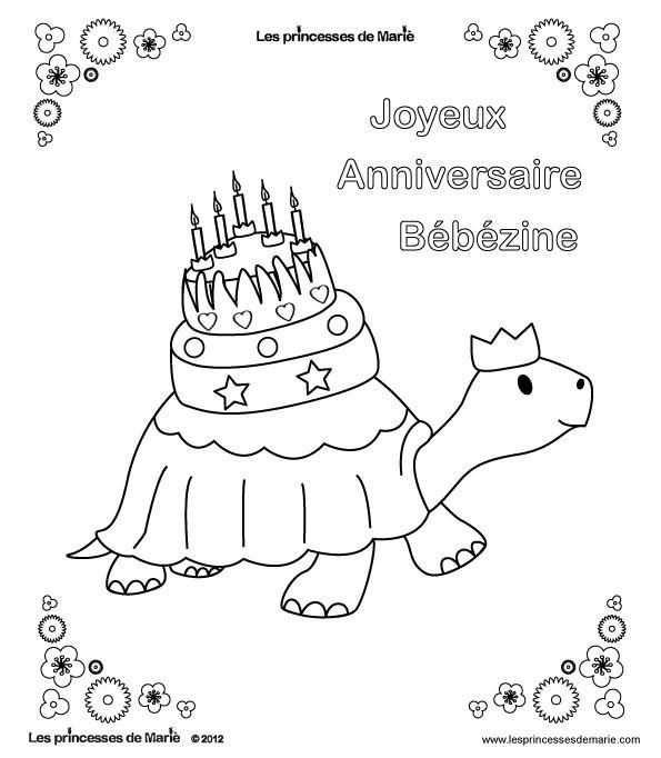 coloriage anniversaire 5 ans bebezine
