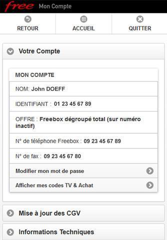 Mon Compte Free disponible pour iOS et Android
