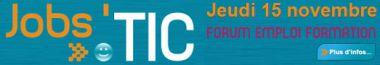 Jobs'TIC, le Forum emploi formation TIC