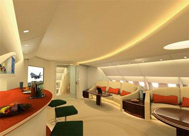 Intérieur de l\'A380 : le salon VIP de Lufthansa en images - Paperblog