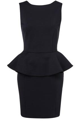 Robe noire a basque