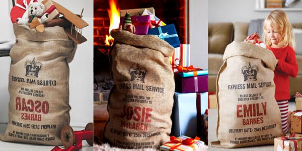 sacs de cadeaux de no l personnalis s voir. Black Bedroom Furniture Sets. Home Design Ideas