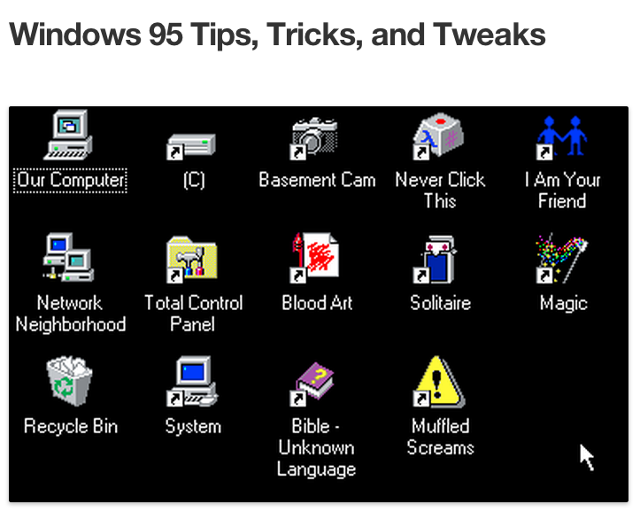 geek - humour nostalgie avec tumblr windows95tips tumblr microsoft windows95
