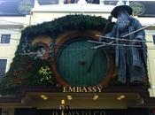 sculpture géante Gandalf pour l'avant première Hobbit