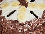 Gâteau banane chantilly mascarponée façon forêt noire