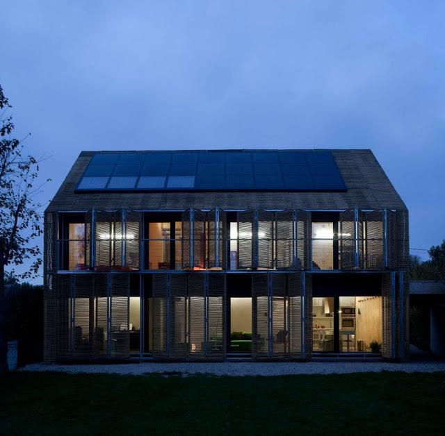 Maison passive bessancourt par l 39 agence karawitz en ile de france architecture paperblog - Maison passive design ...