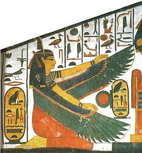 Maat with Nefertari Cartouche. Ancient Egypt History