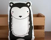 Plush Bear Pillow in Chocolate MADE TO ORDER