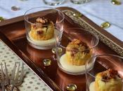 Mise bouche Foie gras Figues avec sauce Sauternes, rien