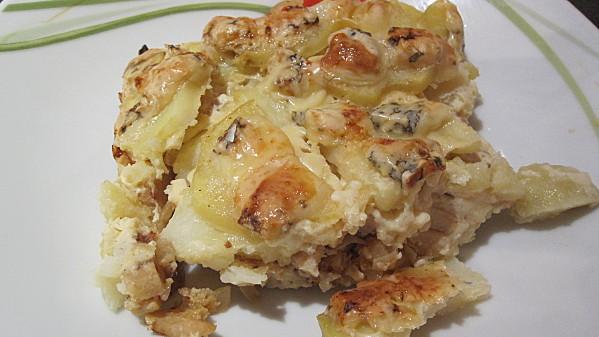 Gratin De Pommes De Terre Poulet Champignons Fourme D Ambert