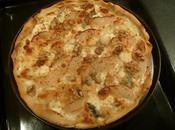 Pizza gorgonzola, poire noix