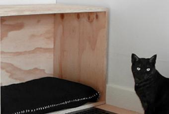 une id e design et r cup de lit pour chat sign e hindsvik voir. Black Bedroom Furniture Sets. Home Design Ideas