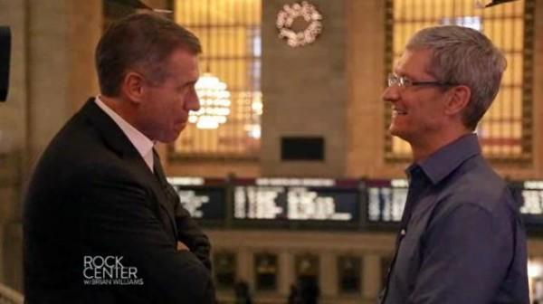 Interview de Tim Cook par la NBC