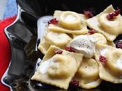 Ravioli crottin chavignol cranberries séchées