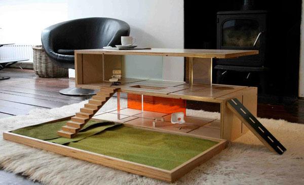 La Table Basse, Maison De Poupée Qubis Haus | À Voir