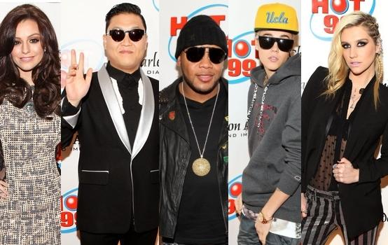 Ke$ha, Cher Lloyd, Bierber, Psy et Flo-Rida au Hot 99.5 Jingle Ball 2012