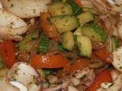 Calamars sautés petits légumes croquants
