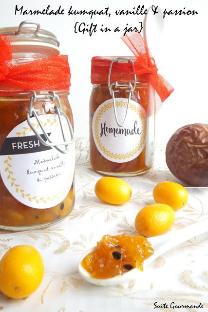Marmelade kumquats, vanille & passion { Gift in a Jar }