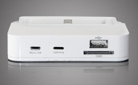 Une station de recharge universelle Lightning, microUSB et Apple 30 broches
