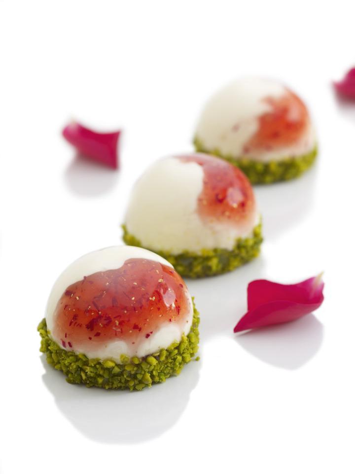 recette du marbr fromage blanc rose fraise de j r me chaucesse voir. Black Bedroom Furniture Sets. Home Design Ideas