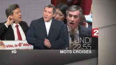 Mots croisés Cahuzac Mélenchon