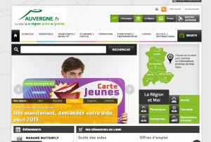 Présentation du nouveau site internet de la région Auvergne