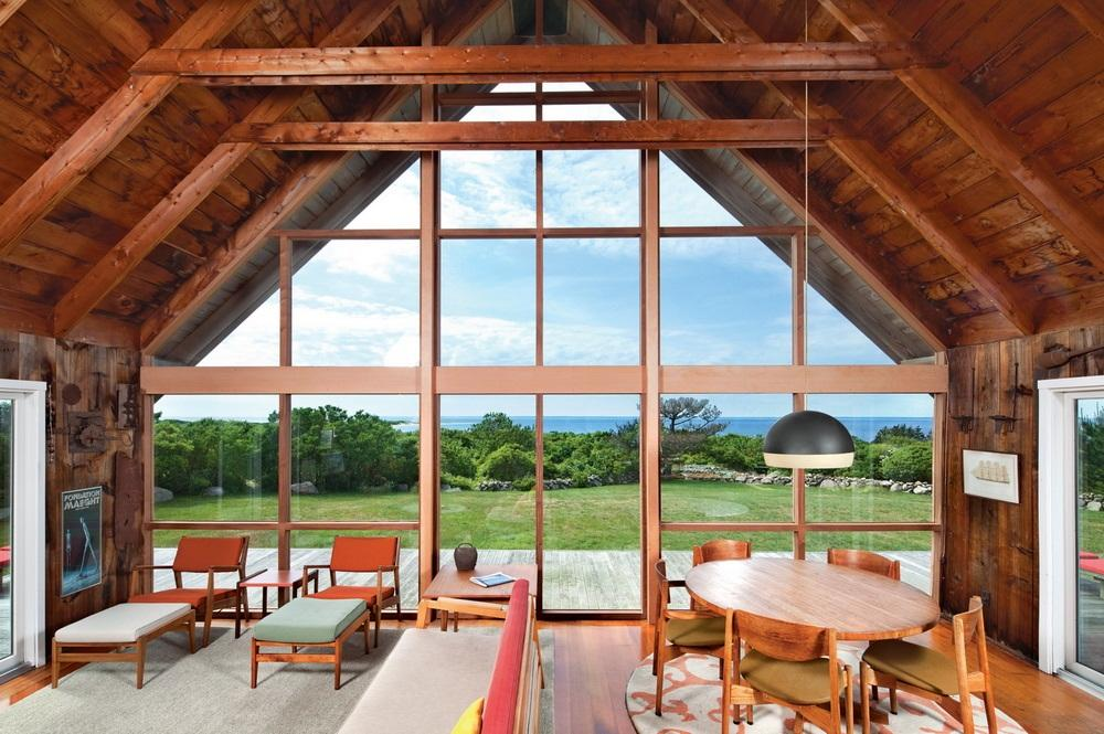 visite priv e une maison de vacances scandinave aux etats unis the jens risom house voir. Black Bedroom Furniture Sets. Home Design Ideas