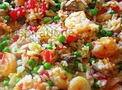 poêlée champignons crevettes