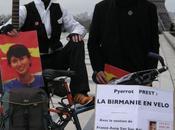 "Lancement l'opération Birmanie vélo"" France Aung Kyi, l'initiative l'artiste globe-trotter humanitaire Pyerrot Prest"