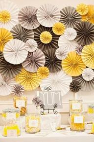 L Eventail En Papier Rosace Pour Decoration De Bapteme Ou De Mariage