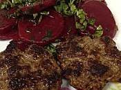 Rissoles boeuf Salade Betteraves