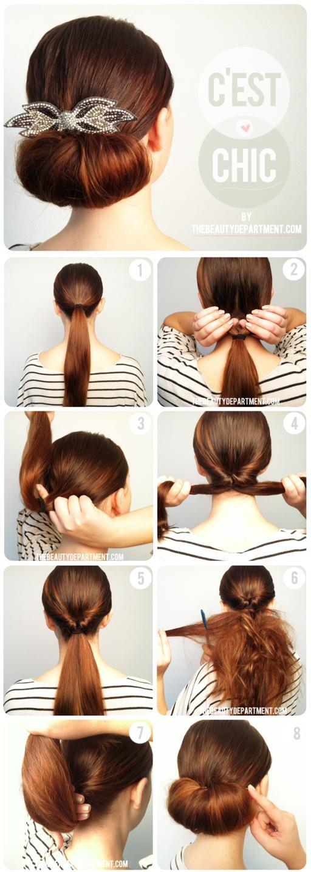 Beliebt Une idée coiffure chic et facile - Paperblog WN43