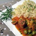 Sauté de Veau au Chorizo et aux Olives Vertes