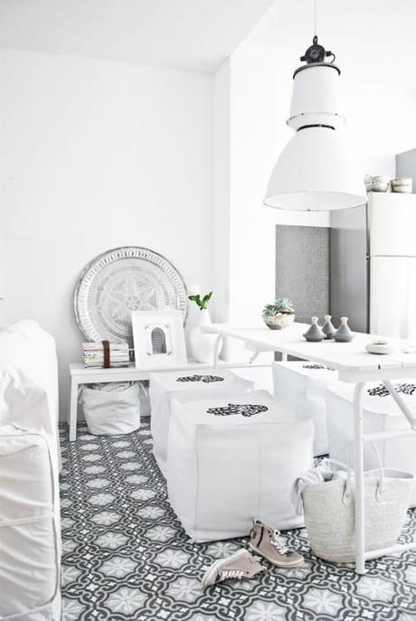 { Visite déco } Inspiration Marocaine tout en blanc