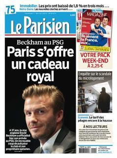 Le nouveau pari de David Beckham à Paris au PSG  /  The new challenge of David Beckham in Paris for PSG