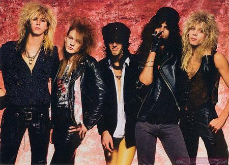 Guns and roses glam rock