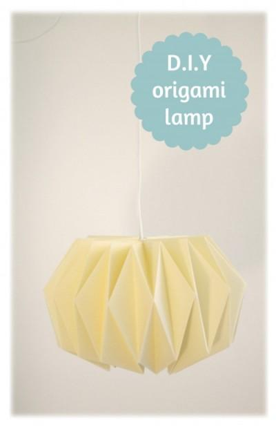d.i.y. origami lamp 1