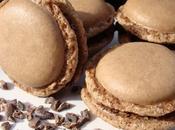 Macarons chocolat fleur grué cacao