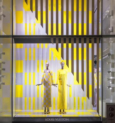 Boutique : Daniel Buren et Louis Vuitton