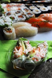 J'adooooore les sushis !!! Direction Côté sushi pour goûter un vol de sushis…